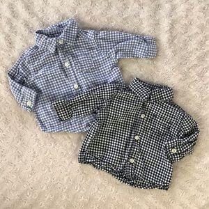 Carter's Newborn Button Down Shirt Bundle Gingham